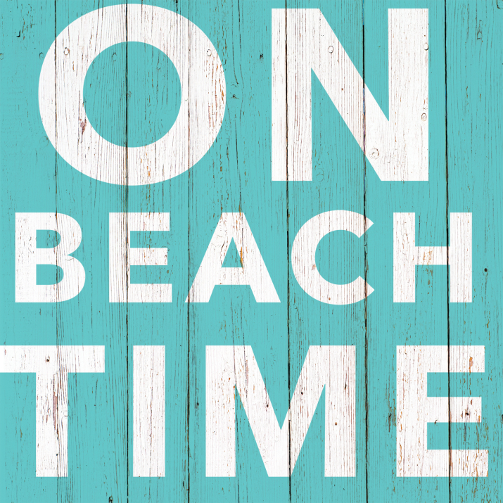 On Beach Time Paper Cocktail Napkins
