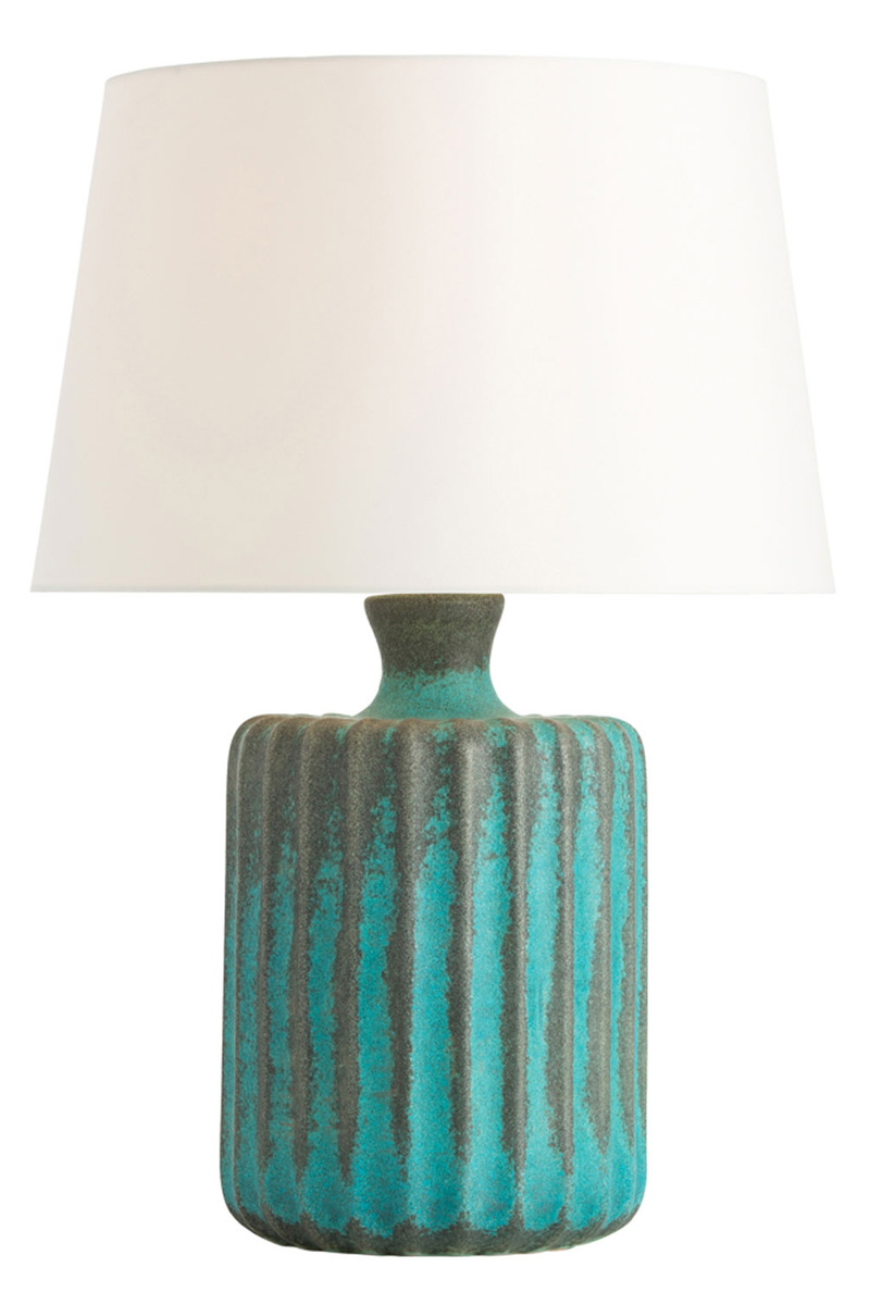 Palisades Turquoise Reactive Lamp