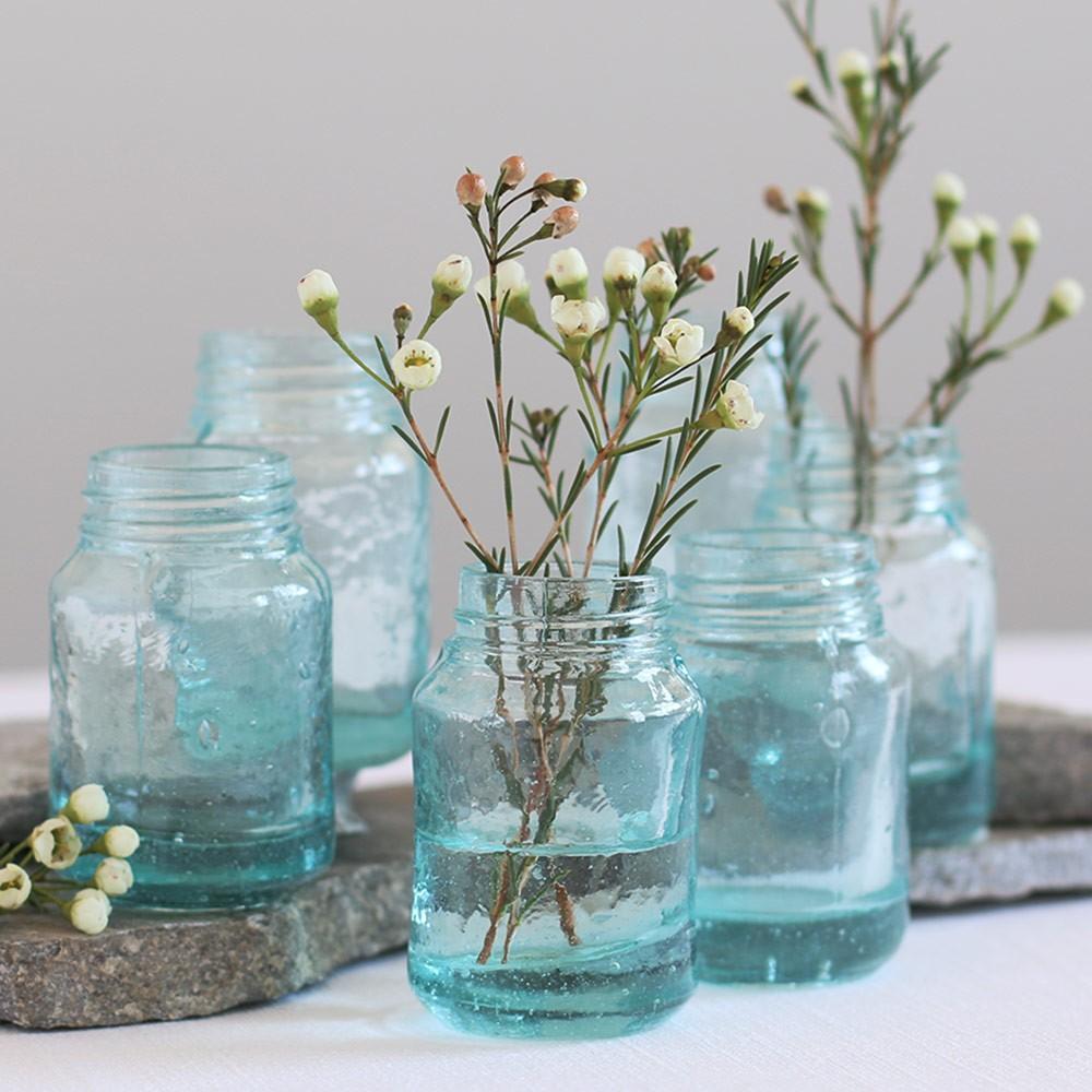 Recycled glass mason jar style mini vases everything turquoise recycled glass mason jar style mini vases reviewsmspy