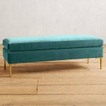 Teal Velvet Edlyn Bench