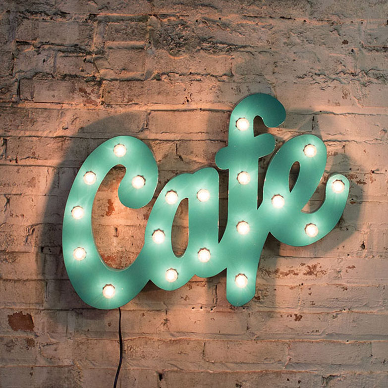 Vintage Inspired Cafe Marquee Lighting