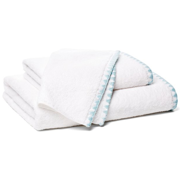 3-Pc Blue Ombre Stitch Towel Set