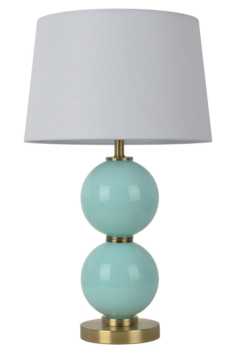 Glass Table Lamp with Touch On/Off