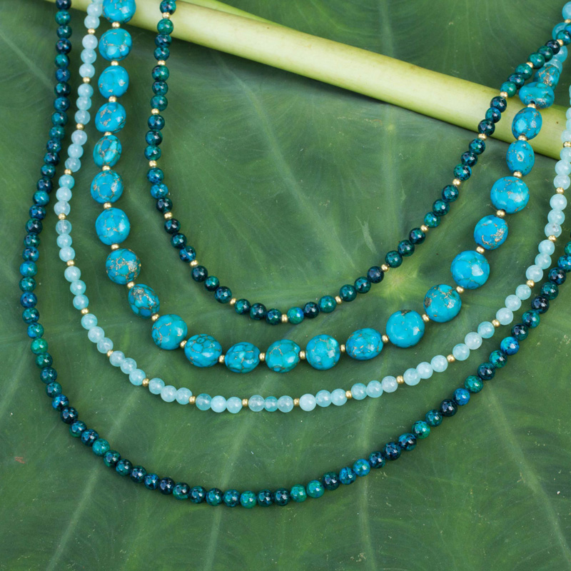 Forest Lagoon Beaded Necklace