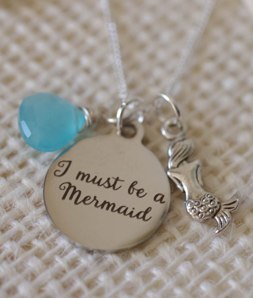 I Must Be A Mermaid Necklace