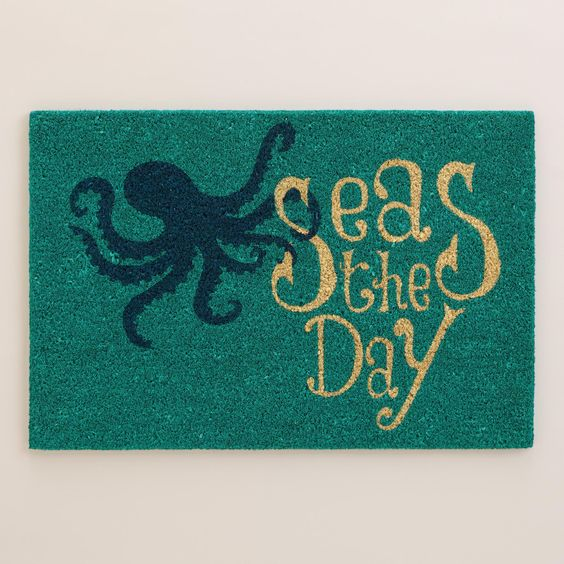 Seas the Day Coir Doormat