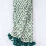 Teal Marbella Throw