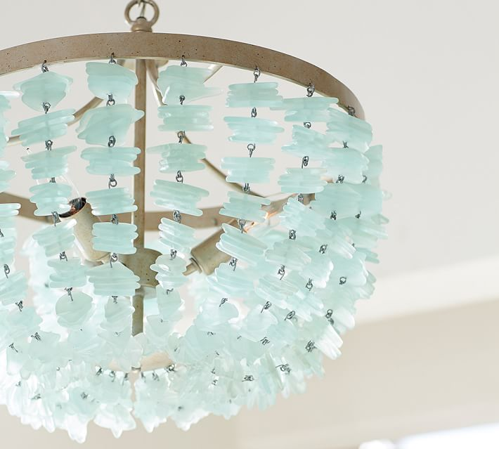 Finest Enya Sea Glass Chandelier | Everything Turquoise JM93