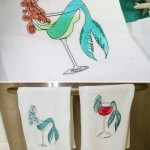 Margarita Mermaid Embroidered Kitchen Towel