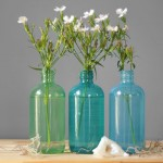 Seaside Colored Glass Bottles