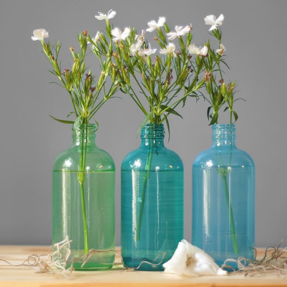 Seaside Colored Glass Bottles