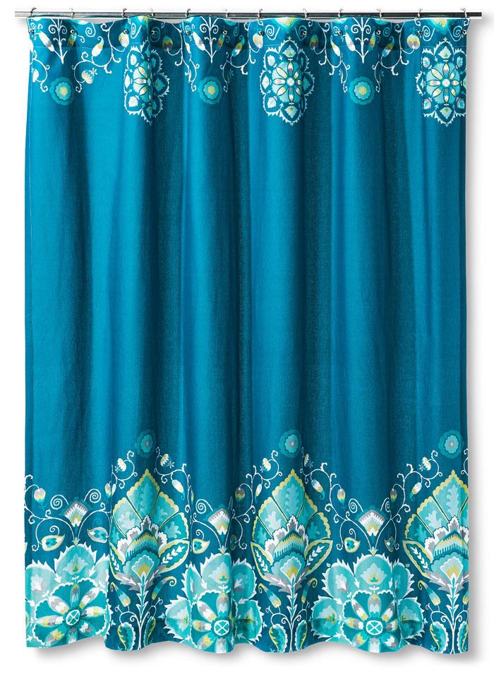 Tamerin Teal Shower Curtain