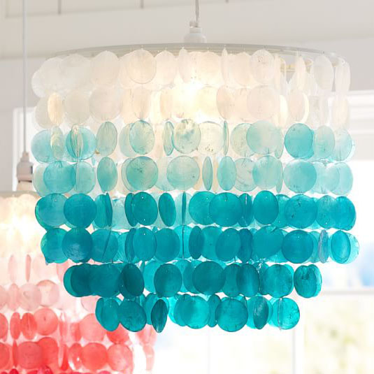 Turquoise Ombre Capiz Chandelier Everything Turquoise
