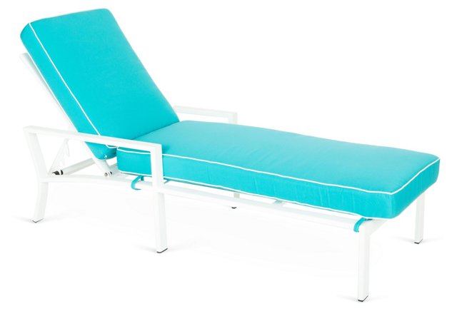 Turquoise Parkview Chaise