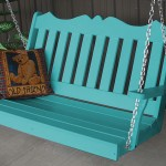 Aruba Blue Royal English Porch Swing