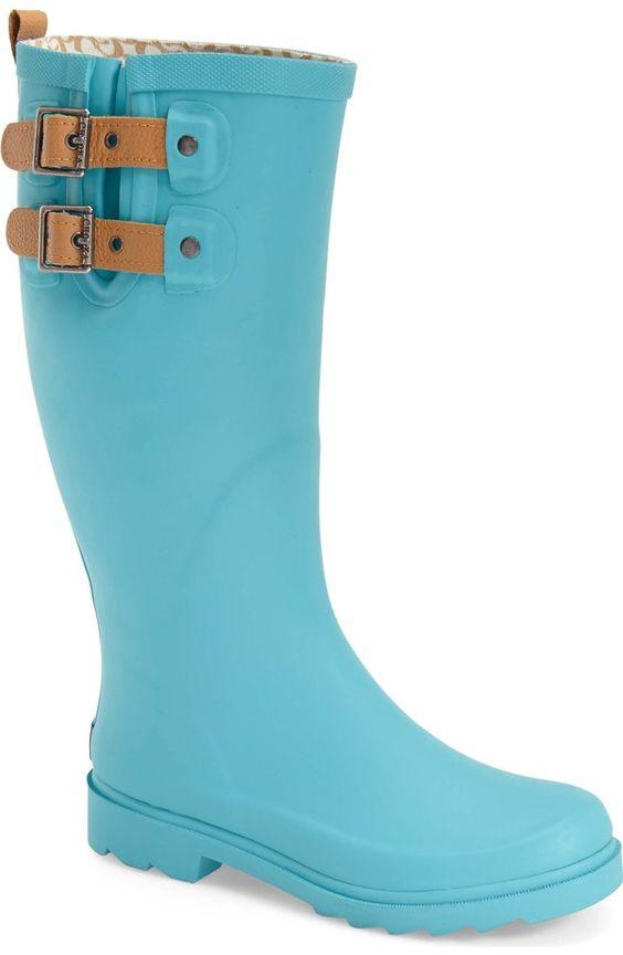 Chooka Turquoise Top Solid Rain Boot