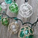 Nautical Retro Glass-Style Buoy Plastic String Lights