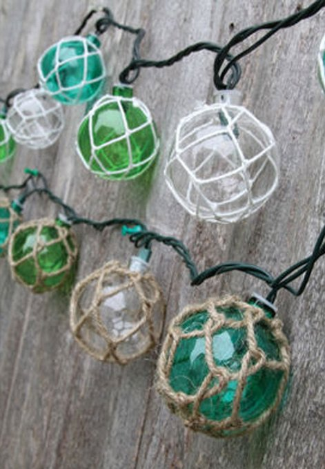 Nautical Retro Glass-Style Buoy Plastic String Lights