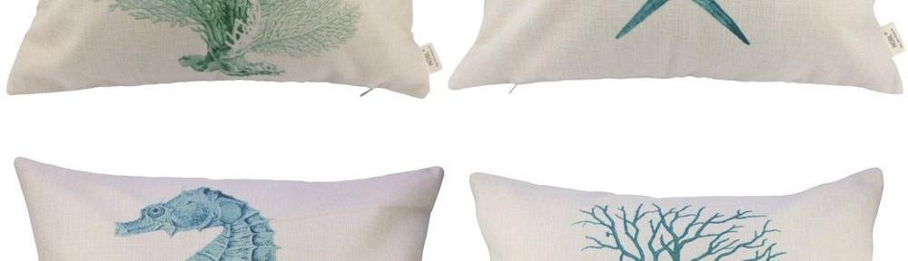 Ocean Park Theme Decorative Pillow Cover Case