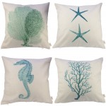 Ocean Park Theme Decorative Pillow Cover Case (Set of 4)