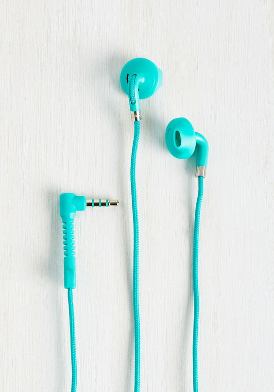 Turquoise Earbuds