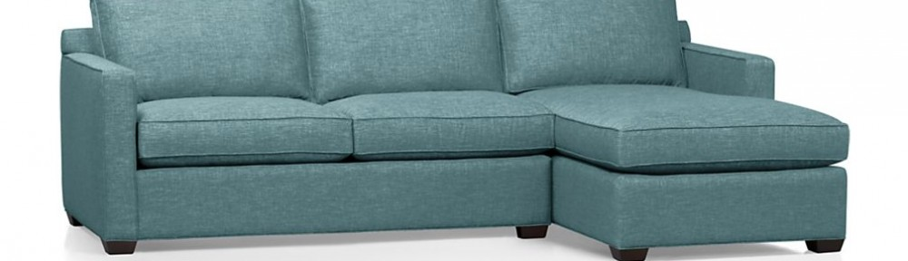 Davis 2-Piece Sectional Sofa in Teal