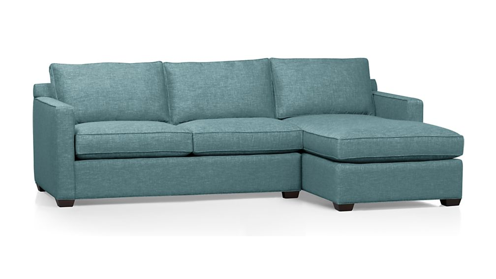 Davis 2-Piece Sectional Sofa In Teal | Everything Turquoise