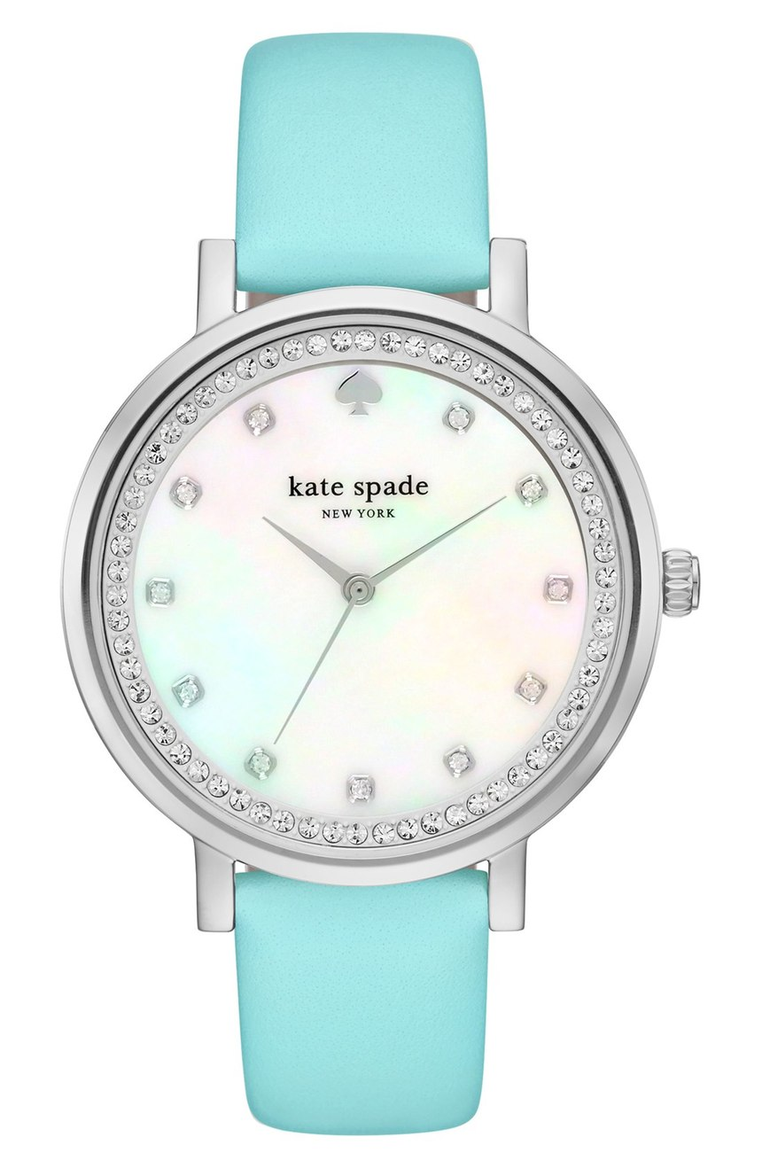 Kate Spade Monterrey Turquoise Leather Strap Watch