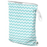 Planet Wise Teal Chevron Wet Bag