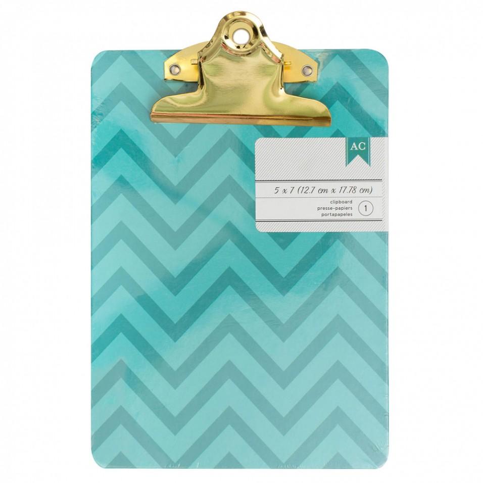 Turquoise Chevron Mini Clipboard