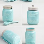 Blue Ceramic Mason Jar Collection