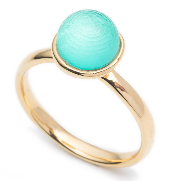 Alexis Bittar Aqua Mini Sphere Ring