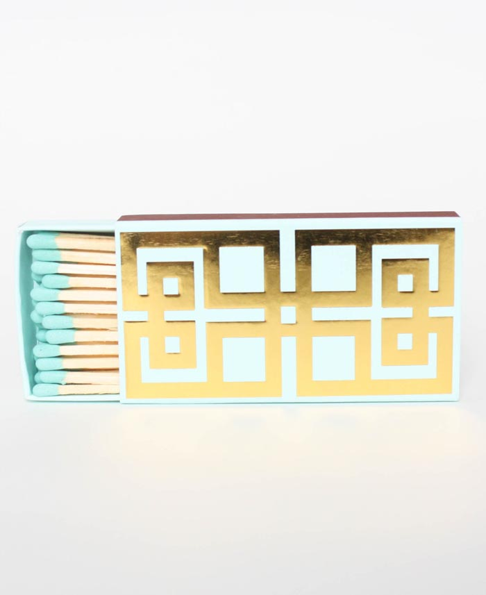 Aqua Greek Key Matches