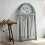 Blue Antiqued Arch Wall Decor