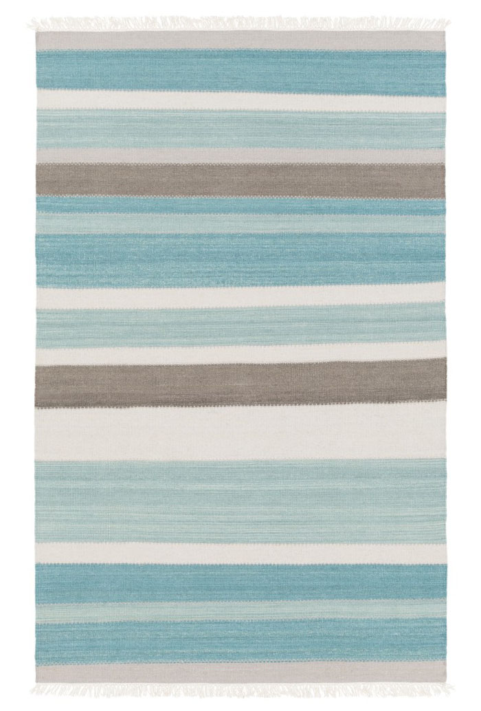 Blue and Ivory Ceci Rug