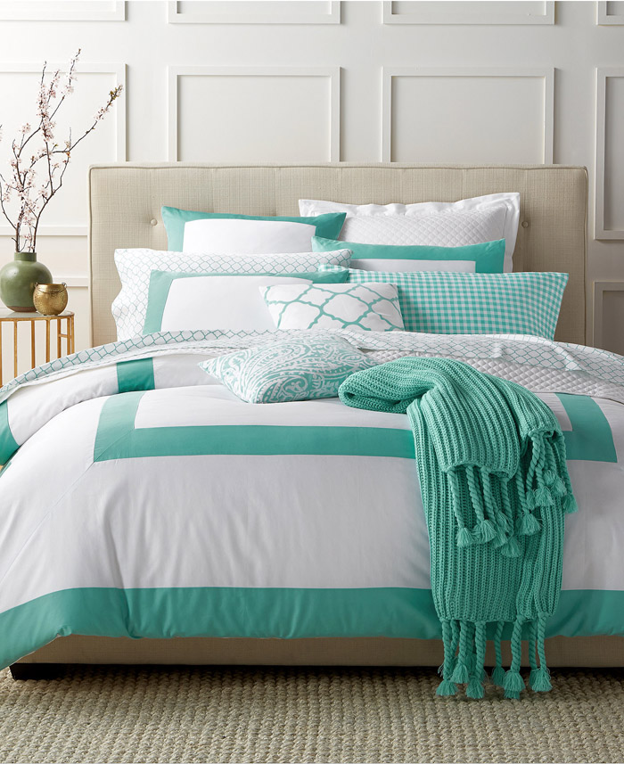 Colorblock Teal Bedding Collection | Everything Turquoise