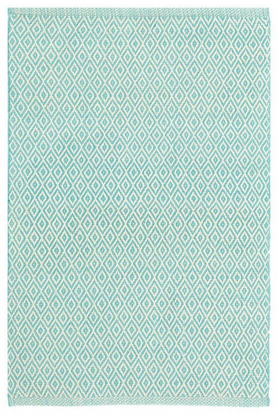 Dash & Albert Crystal Aqua and Ivory Rug