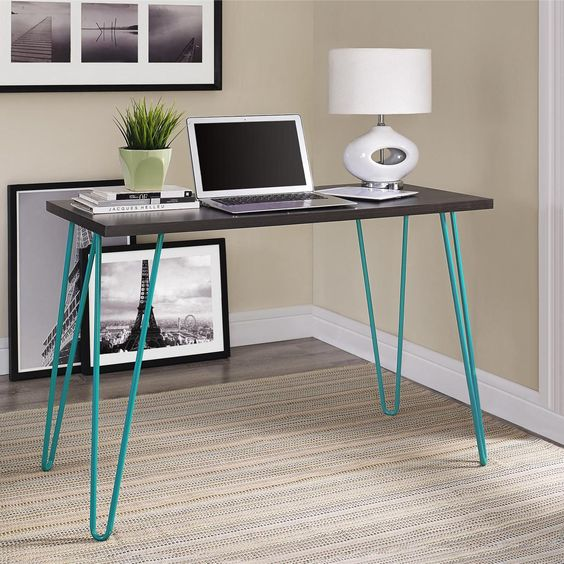 Teal Altra Owen Retro Laptop Desk