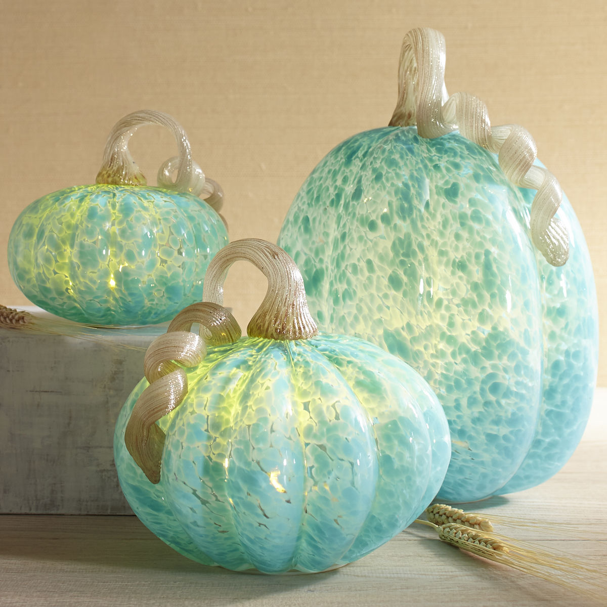 Blue LED Pumpkins