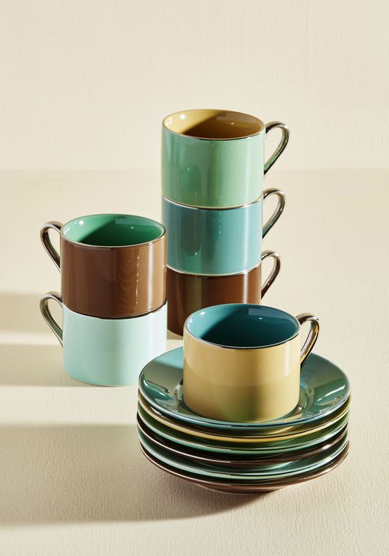 Coastline Cup and Saucer Set