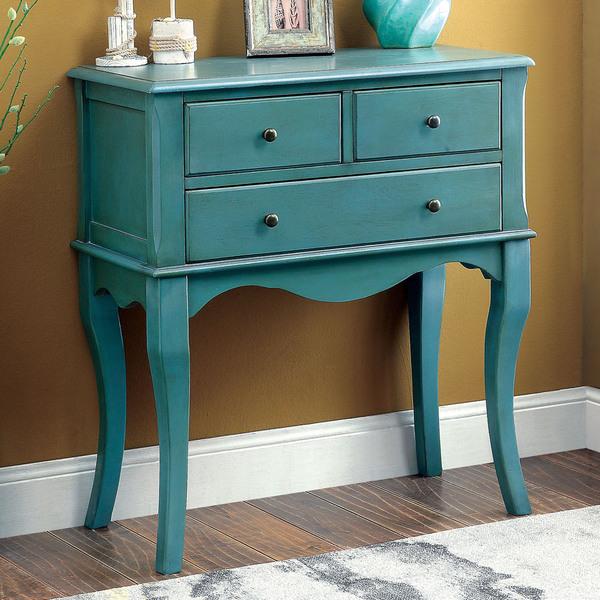 American Furniture Warehouse Mail: Eloisa Vintage Style Antique Teal Hallway Table