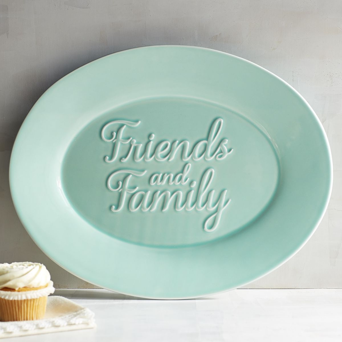 Friends and Family Turquoise Serving Platter