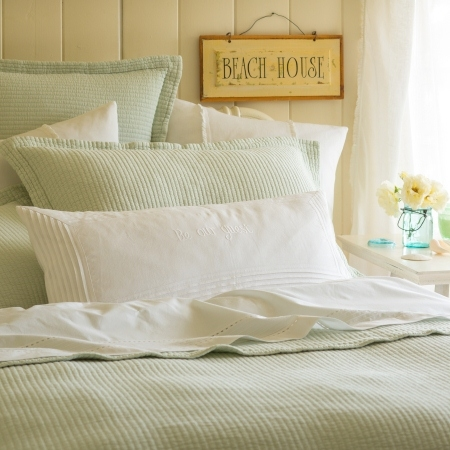 Hudson Robin's Egg Blue Bedding Collection by Taylor Linens