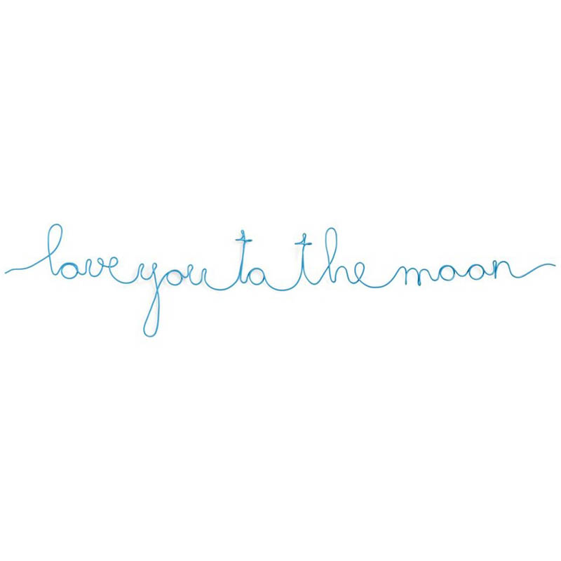 Love You to the Moon Wire Wall Art