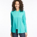 Pima Cotton Two-Pocket Open Cardigan