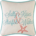 Salty Kisses & Starfish Wishes Pillow