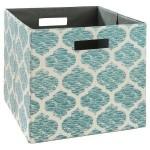 Teal Fabric Cube Storage Bin