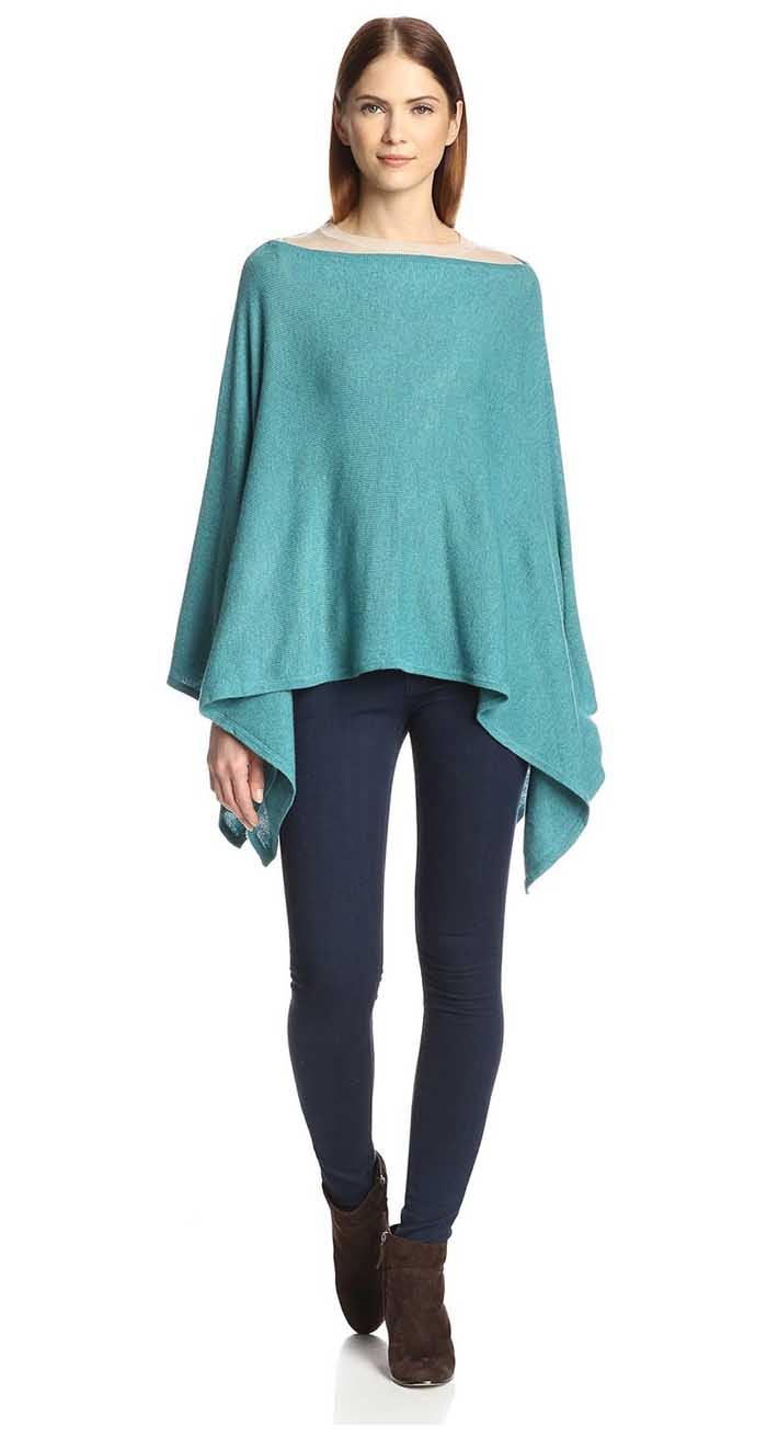 Teal Scarf Poncho