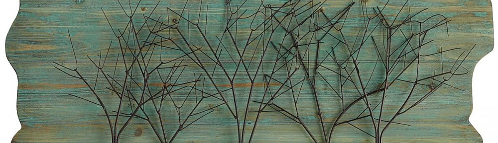 Teal Woodlands Wall Decor