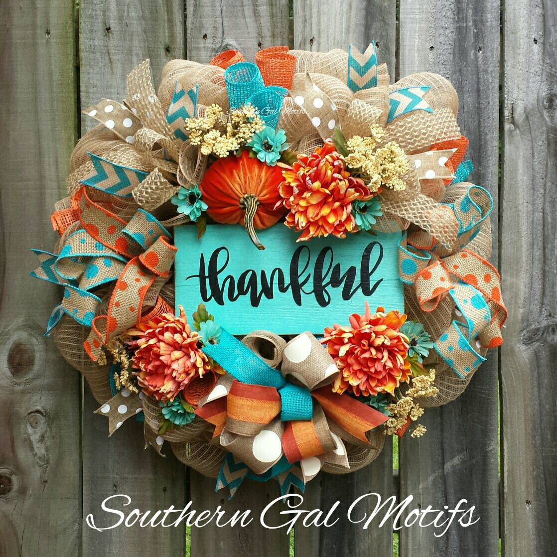 Thankful fall wreath everything turquoise thankful fall wreath izmirmasajfo